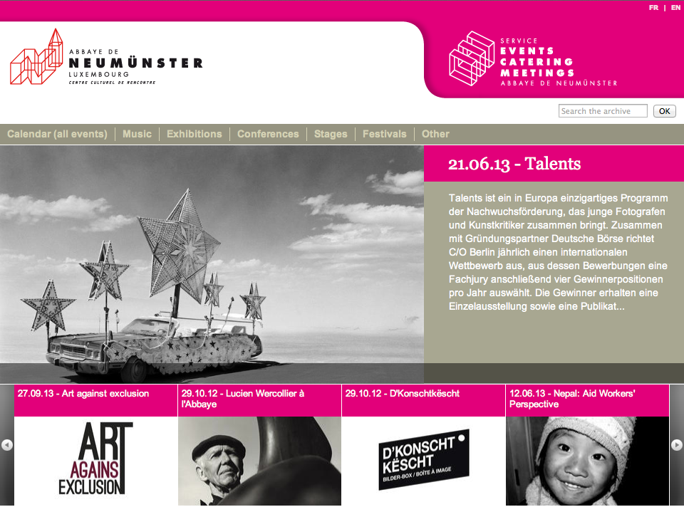 C/O Berlin Talents 2012 exhibition at Abbaye de Neumunster